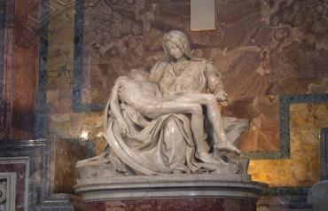 VATICAN STATUE MARY & JESUS